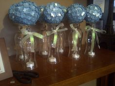 I made these to use as centerpieces for my friends bridal shower!      http://pizzazzerie.com/parties/tutorial-how-to-make-a-pomander-flower-ball/