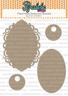 Ornate Frame Oval Fibreboard Substrates Kit - Paperbabe Stamps - Complementary MDF Shapes for mixed media and craft.