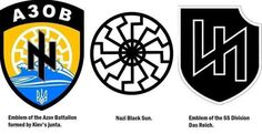 """George Soros's and Barack Obama's Neo Nazis. Neo-Nazis Travelling to Ukraine to Fight Against """"Separatists"""" and Establish a """"Fascist Dictatorship"""" Azov Battalion, Places In Berlin, Travel To Ukraine, Military Training, National Guard, Eastern Europe, Juventus Logo, Poster, Letters"""