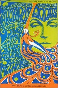 Vintage, Retro, Hippie poster - beautiful art design. The Doors classic rock…