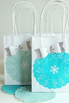 pfefferminzgruen: DIY - Geburtstagstüten für die Eiskönigin