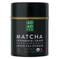 AO AO TEA - Matcha Green Tea Powder - Ceremonial Grade 1oz / 30g - Healthy and Delicious - All Natural Energy - USDA Certified Organic Premium Matcha Powder - Product of Japan @ mynutritionalhealth.info