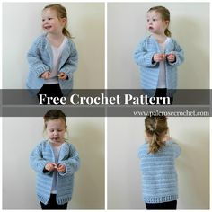 Oversized Toddler Cardigan Pattern | Pale Rose Crochet