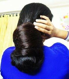 Bun Hairstyles For Long Hair, Indian Hairstyles, Braided Hairstyles, Katrina Kaif Bikini Photo, Beautiful Long Hair, Amazing Hair, Long Indian Hair, Big Bun, Super Long Hair