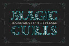 Magic Curls font @creativework247