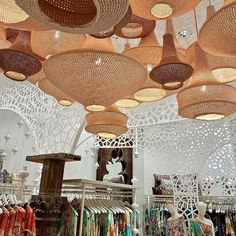 Stylish designer pendant lights crocheted by artisan women in Marrakech, Morocco. Made to order in a wide range of models, sizes and colours to suit all interiors.