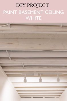 Exposed beams in basement ceiling no drop ceiling | painting ceiling white | ceiling painting | exposed beams | #basementceiling #ceilingideas #exposedbeams #basementbeams #basementideas #basementdiy