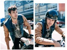 Photographer Kara Nixon catches up with LA Models' Felix Bujo in downtown Los Angeles for a new shoot that highlights the model attending to normal everyday… Felix Bujo, Downtown Los Angeles, Shopping Websites, Days Out, Denim Shirt, Kara, New Outfits, Riding Helmets, Menswear