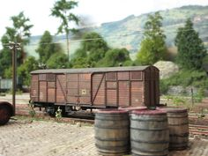 how to do weathering with colors: 10: ready old looking dutch box car that had served for some years,at  Neustadt am Wald freight depot!