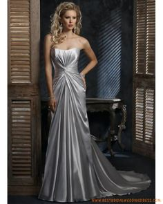 Wedding dress online shop - Wedding dresses uk online shop, Cheap designer bridal gowns dresses for sale Informal Wedding Dresses, Bridal Wedding Dresses, Cheap Wedding Dress, Bridesmaid Dresses, Wedding Cakes, Silver Wedding Gowns, Silver Gown, Elegant Wedding, Pretty Flower Girl Dresses
