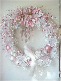 Image result for blue and white christmas wreaths