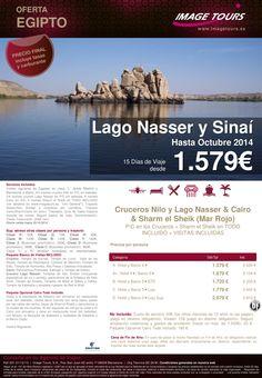 Lago Nasser y Sinaí hasta Octubre 2014, 15 días de viaje con Cairo en AD, Crucero por el Nilo y Lago ultimo minuto - http://zocotours.com/lago-nasser-y-sinai-hasta-octubre-2014-15-dias-de-viaje-con-cairo-en-ad-crucero-por-el-nilo-y-lago-ultimo-minuto/