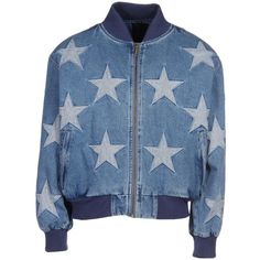 JOYRICH Denim jacket ($249) ❤ liked on Polyvore featuring outerwear, jackets, blue jean jacket, denim jacket, blue jackets, jean jacket and joyrich