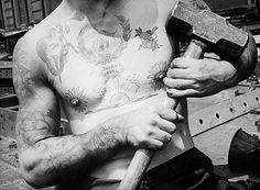 Once upon a time (1937), tattoos were for shipbuilders who could wield a sledgehammer.
