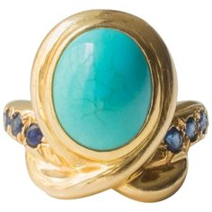 Shop diamond and sapphire more rings and other antique and vintage rings from the world's best jewelry dealers. Gold Diamond Rings, Gold Rings, Gemstone Rings, Jewelry Rings, Jewelry Accessories, Fine Jewelry, Jewellery, Diamond Anniversary Rings, Turquoise Jewelry