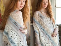 Sneak peek inside 2014 Special Crochet Issue of Vogue Knitting ... Valentina Devine's Shawl #crochet