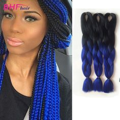 Kanekalon Xpression Braids Synthetic Ombre Two Tone Merley Braid Hair