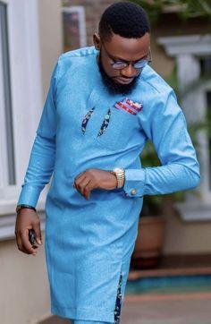 Stylish Wedding Suit Styles For Nigerian Men African Male Suits, African Shirts For Men, African Dresses Men, African Attire For Men, African Clothing For Men, African Wear, Nigerian Men Fashion, African Print Fashion, Dashiki For Men
