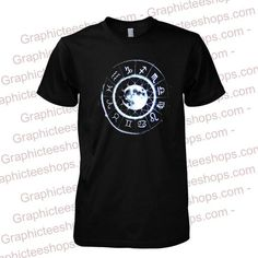 moon zodiac circle tshirt