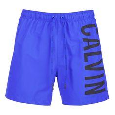 Calvin Klein Men's CK OneLogo Intense Power Swim Shorts - Royal Blue (4650 RSD) ❤ liked on Polyvore featuring men's fashion, men's clothing, men's swimwear, blue, men's apparel, mens swim trunks, mens swimwear, mens swimshorts and mens clothing