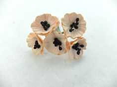 10 Mulberry poppy - light peach - paper flowers #Pink #Wedding #PinkWedding #Paper