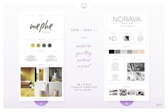 Brand Boards / Style Tiles VOL 1 by AM Studio on @creativemarket