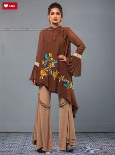 Zainab Chottani Rustic brown Eid Pret 2017 - Original Online Shopping Store