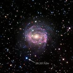 Supernova 55 million lightyears away. Photo credit university of California at Santa Barbara.