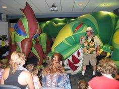 Dinoman Dinosaurs brought incredible life-size dinosaurs to the library on August 5, 2013.