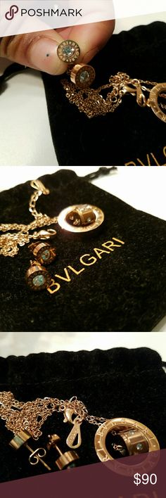 Vintage Bvlgari necklace and earring set Priced to sell its gold plated and old open to reasonable offers. Still in great shape no paper or box. bvlgari Jewelry