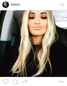 Rita Ora blonde hair big lips