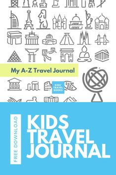 Free printable: Travel Journal for Kids Templates Printable Free, Free Printables, Kids Travel Journal, Journal Template, Travel Activities, Book Themes, Travel Memories, Travel Scrapbook, Free Travel