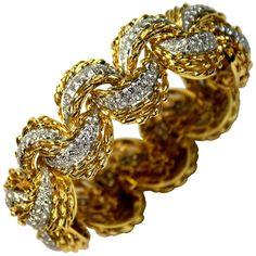 vintage bracelet: platinum/gold/diamond