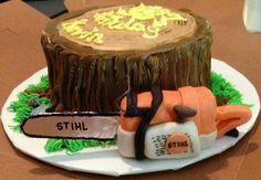 Stihl Chainsaw Cake Birthday cakepins.com