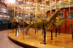 The praying mantis on the Bronx Zoo bug Carousel