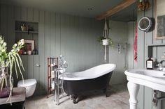 Bathroom in a 17th-century farmhouse in England
