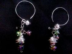 My gorgeous Beaded n wire wrapped pair of earrings