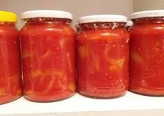 Preserves, Salsa, Vegetarian Recipes, At Least, Food And Drink, Canning, Red Peppers, Preserve, Preserving Food