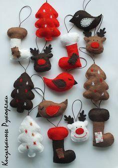Кисулькины Рукоделки: Новогодние игрушки из фетра