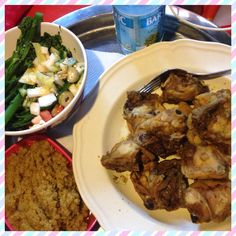 Chineze broccoli rauwkost cous cous kip kerrie
