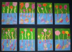Truffula tree art for early finishers