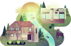 Editorial-illustration-for-icon-magazine-on-the-architecture-of-center-parcs1-sam-glynn-its-nice-that-