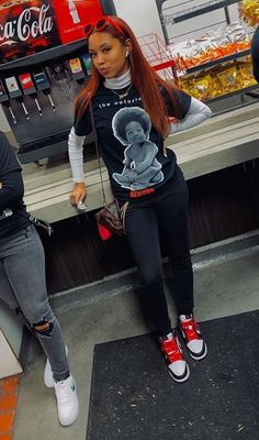 Source by itsroriee ideas tomboy Boujee Outfits, Cute Swag Outfits, Tomboy Outfits, Chill Outfits, Teen Fashion Outfits, Dope Outfits, Retro Outfits, Tomboy Fashion, Trendy Outfits