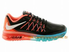 Official Nike Air Max 2015 Chaussures Nike Basket Pas Cher Pour Homme Noir - Rose - Bleu