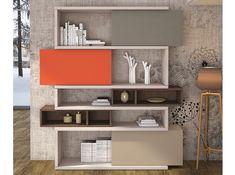 Modern Italian Modular Bookcase Velvet 128 - $2,759.00