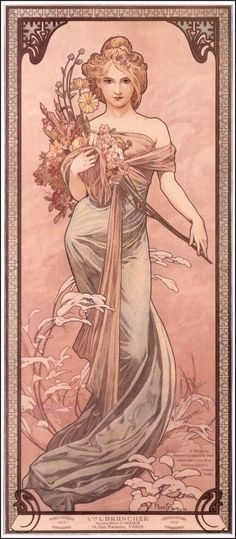 The Vernal (Spring) Equinox -March 20th (Alphonse Mucha, 1898)