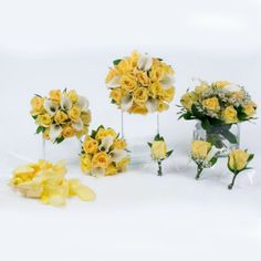 roses and lily collection yellow and white