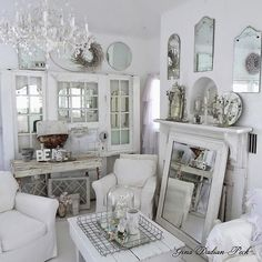 Shabby Vintage Archives - Cute Home Designs Shabby Chic Cottage, Shabby Chic Homes, Shabby Chic Decor, White Rooms, Vintage Shabby Chic, White Decor, Shabby Chic Furniture, Living Room Designs, Blog