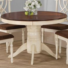 Round Pedestal Dining Table With Leaf round kitchen table and 4 chairs   http://manageditservicesatlanta
