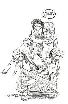 Sorry, ladies. Flynn's already taken. Rapunzel is more possessive than usual. lol